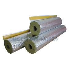 1 m Rock wool mineral Isolation Pipe insulation foil-laminated 90/89 100% EnEV