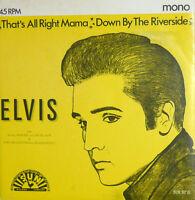 """PROMO DELLA RIVISTA RARO - ELVIS PRESLEY  THAT'S RIGHT MAMA 7"""" ETICHETTA SUN"""