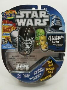 Mighty Beanz Star Wars 4 Pack with Clone Trooper # 12 in Display SpinMaster 2010