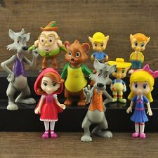 9PCS Goldie and Bear Little Red Riding Hood Fairy Tales Cake Topper Figures Toy