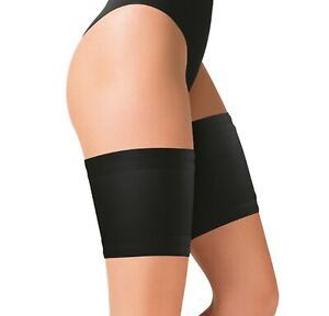 Black Anti Chafing Thigh Bands Elastic Non Slip Prevent Chaffing Stay Up Sock UK