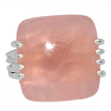 Xtremegems Rose Quartz 925 Sterling Silver Ring Jewelry Size 7 27436R