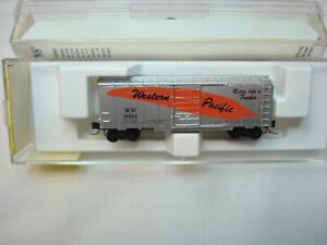Micro Trains Z Scale Western Pacific 40ft Silver Boxcar