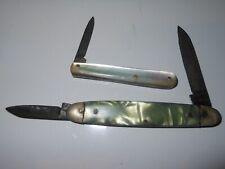 ADLER Messer Germany present box with 2 pocket knifes  1 x 90mm /& 1 x 60mm  #303