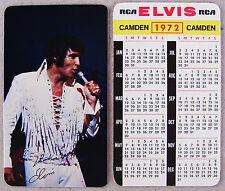 Elvis Presley 1972 Wallet Size Pocket Calendar Original RCA Promo Card * MINT *