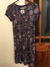 Ladies Purple Mix Dress By Mantaray - Size UK 10