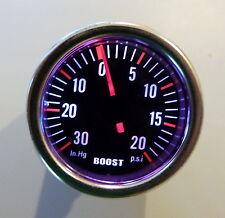 Turbo Boost Gauge 7 Color Smoke Lens 12 Volt back Light 270 Deg - 40 Series