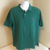 Polo Ralph Lauren Mens Shirt Short Sleeve 100% Cotton XXL 2XL Green Classic Fit