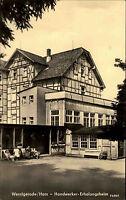 Wernigerode Sachsen Anhalt DDR s/w AK 1962 gelaufen Handwerker Erholungsheim