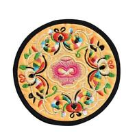 Chinese Silk Embroidered Round Cup Mat Pad Beverage Decor Coasters H1R7