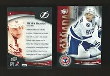 UPPER DECK PRIDE OF CANADA STEVEN STAMKOS # 9 TAMPA BAY LIGHTNING