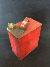 Vintage Red Valor Fuel Petrol Can, Brass Cap, Oil, Classic, Retro, Collectable