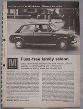 1968 Morris 1300 super luxe 2-door Original Motor magazine Road test
