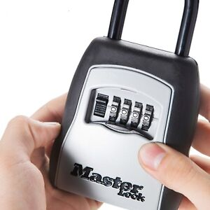 Outdoor Key Safe Box Padlock Keys Storage Use Password Combination Security Lock