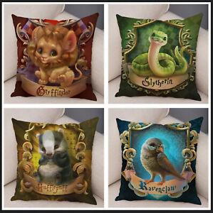 süsser Kissenbezug 45x45 Hogwarts Gryffindor Slytherin Hufflepuff Ravenclaw