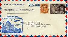 CANADA 1ers vols first flights airmail 64
