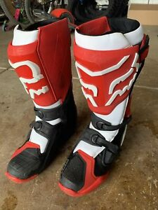 Fox Racing Comp R Boots Size 11 (RED/BLACK/WHITE), Lightly Used