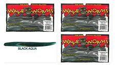 "(3) Unopened Packs Wave Plastics 5"" Tiki-BamBoo Stick Swirl Series Black Aqua"