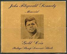 RAS AL KHAIMA 1964  HALF DOLLAR  JOHN F. KENNEDY GOLD  FOIL IMPRF COIN STAMPS