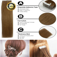 8A 100G Brazilian 16 - 24 Tape in 100% Real Remy Human Hair Extensions UK KNc4YG