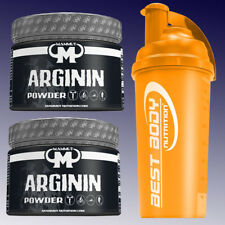 (44,98 €/kg) Mammut Arginin Powder 2 x 300g + Eiweiß Shaker von Best Body Orange