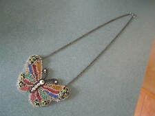 Large Rhinestone Butterfly Necklace