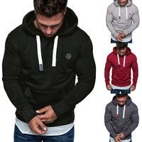 Men Hooded Hoodies Sweatshirt Sweater Jumper Outwear Coat Jacket Tops Tracksuits