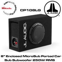 """JL Audio CP108LG-W3v3 8"""" Enclosed MicroSub Ported Car Sub Subwoofer 250W RMS 6W3"""
