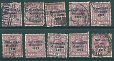 IRELAND 1922 used stamp collection: 6d shades & postmarks