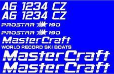 MasterCraft Prostar 190 Full set #4 w/Matching Boat Registration Numbers