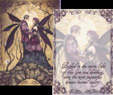 Jessica Galbreth *Love Springs Eternal* Fairy Couple Mini Art Print Poem (5x7)