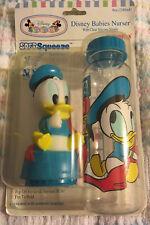 Vintage Nos Evenflo Disney Baby Donald Duck Baby Bottle 8 Oz Soft Squeeze Cap!