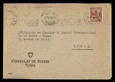 Dr Who 1943 Tunisia Switzerland Consulate Diplomatic f80941