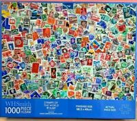 WHSmith-1000 Jigsaw Puzzles-Stamps of the World-by Alamy-Games-Family