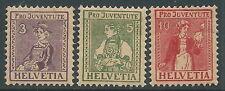1917 SVIZZERA PRO JUVENTUTE COSTUMI CANTONALI MNH ** - I57-2