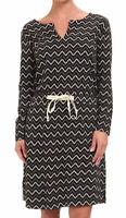 North Face Women's Starrett Dress Black Chevron Zig Zag XS Cotton Jersey Soft
