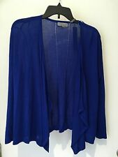 Joseph A. Femme Taille M Tricot Bleu Pull Cardigan Nwt