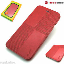 APPLE IPHONE 6 PLUS & 6S plus Leather HOCO CRYSTAL FASHION Wallet Book case RED