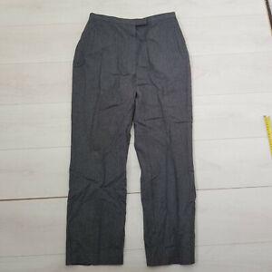 M&S St.Michaels Workwear Trousers Size 16 W30 L28 Dark Grey Pockets Wool Blend