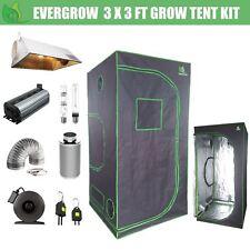 EverGrow Pro 3x3 FT Hydroponic Grow Tent Grow Light Vent Kit 600W HPS Ballast
