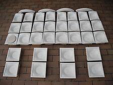 weisse Ofenkacheln vom antiken Kachelofen zylindrisch Meissner Teichert Öfen