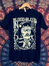 VLAD DRACULA BLOOD IN OUT biker shirt custom helmet moon pin patch goth punk Vtg