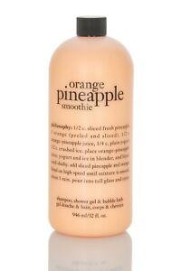 Philosophy ORANGE PINEAPPLE SMOOTHIE Shampoo SGel Bubble Bath 32 oz 946 ml NEW