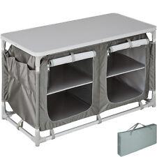 Armadietto da campeggio alluminio tavolo box cucina da esterni mobile pieghevole