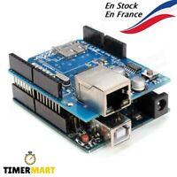 Module Bouclier Ethernet W5100 Shield SD, Carte UNO R3, câble Compatible arduino