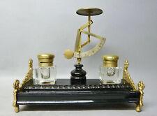 (G7731) Seltenes Schreibzeug / Schreibtischgarnitur mit Briefwaage, um 1900