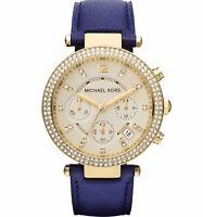 Michael Kors Women's Parker MK2280 Blue Leather Quartz Watch