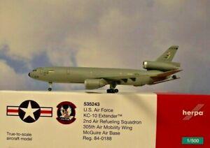Herpa Wings 1:500 Mcdonnell Douglas DC-10 U. S. AIR Force 535243