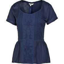 Fat Face - Women's - Porth Peplum Tee - Blue - 100% Viscose - BNWT