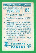 TRASFERIBILE CALCIATORI PANINI 1975/76 - NUOVO/NEW N.23 MASCOTTE - BOLOGNA